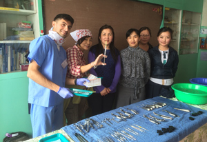 sterlization team in Mongolia with Pediatric Dentist from Fort Lee and Westwood, NJ