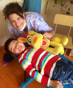 happy patient in Mongolia with Pediatric Dentist from Fort Lee and Westwood, NJ