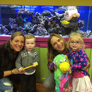 The acquarium at the Pediatric Dentist in Fort Lee and Westwood, NJ
